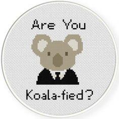 Koalafied Cross Stitch Pattern
