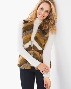 Chico s Faux-Fur Roxie Vest Ribbed Sweater 787bd41cee