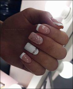 elegant nail designs for short nails - page 34 - Nägel - Nageldesign Elegant Nail Designs, Short Nail Designs, Elegant Nails, Stylish Nails, Simple Acrylic Nails, Square Acrylic Nails, Square Nails, Acrylic Nail Designs, Pink Gel