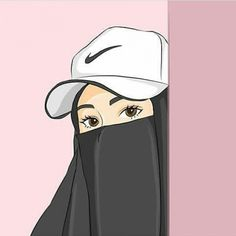 The actual scarf is central to the bit inside attire of women along with hijab. Muslim Pictures, Islamic Pictures, Cute Cartoon Girl, Cartoon Art, Couple Hijab, Caricature, Hijab Drawing, Moslem, Film Anime