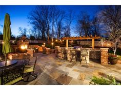 Outdoor bar with beautiful views perfect for entertaining! 237 Dickens Farm Lane, Ballwin, MO 63021.