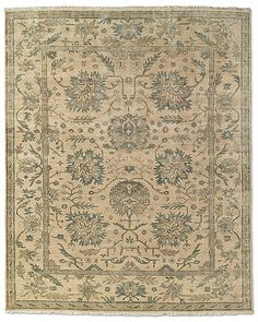 Best suggestion from RH - but still $4K Ceyda Rug in Sand   Hand knotted.  100% wool.  Swatches available.  9' x 12' $5,795 retail / $4346 member.