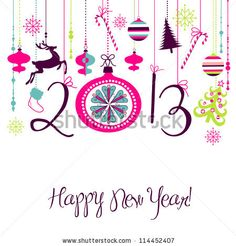 stock vector : 2013 Happy New Year background.