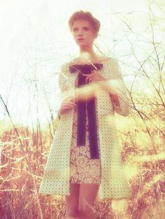 Miu Miu Coat & Lace Dress