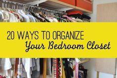 Obsessed with organizing? We channeled our obsession into something helpful: a list of ways to organize your bedroom closet. Master Closet, Closet Bedroom, Ikea Closet Doors, Small Closet Design, Apartment Closet Organization, Big Closets, Apartment Therapy, Apartment Living, Apartment Ideas