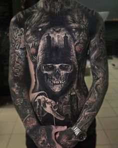What does blackout tattoo mean? We have blackout tattoo ideas, designs, symbolism and we explain the meaning behind the tattoo. Dope Tattoos, Scary Tattoos, Badass Tattoos, Skull Tattoos, Body Art Tattoos, Girl Tattoos, Sleeve Tattoos, Tattoos For Guys, Dark Tattoos For Men