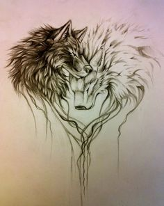 this, with one wolf head and one horse head