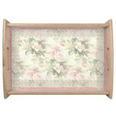 "Lacy Ribbon ""Misty Rose"" Serving Tray"