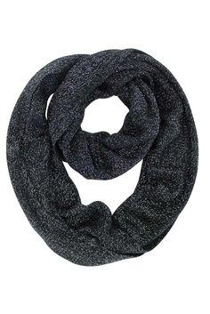 Metallic Knit Circle Infinity Scarf
