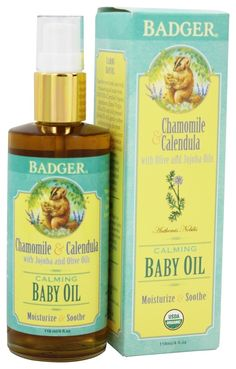 Save on Calming Baby Oil Chamomile & Calendula by Badger and other Body Oils, Baby Oils, For Baby 									and 100% Natural remedies 							 at Lucky Vitamin. Shop online for Personal Care & Beauty, Baby & Child Health, Gift Ideas, Badger items, health and wellness products at discount prices.