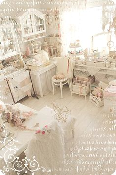 """You have to see this blog ~ her work space is to die for! Also love her quote: """"Yesterday is history. Tomorrow is a mystery. Today is a gift. That's why it's called the present."""""""