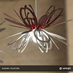 Blossom Pendant Lighting Collection - Satelight - Flower design light fitting in white and red