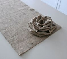 Burlap table runner. by twila