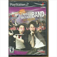 The Naked Brothers Band Play Station 2 Video Game disc PS2 PS/2 NTSC U/C New