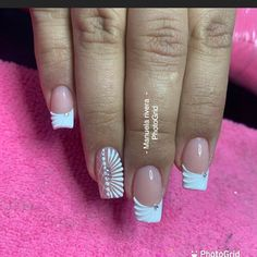 French Manicure Nail Designs, Geometric Nail Art, Easter Nails, Nail Decorations, Nail Art Galleries, Pedicure, Gel Nails, Beauty, Dope Nails