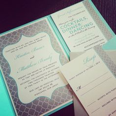 Modern pattern invite