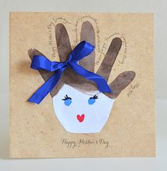 HANDPRINT CARDS for Mother's Day from Willowday
