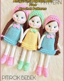Mesmerizing Crochet an Amigurumi Rabbit Ideas. Lovely Crochet an Amigurumi Rabbit Ideas. Handmade Dolls Patterns, Crochet Dolls Free Patterns, Crocheting Patterns, Handmade Toys, Knitted Dolls, Crochet Doll Dress, Crochet Mignon, Amigurumi Doll, Amigurumi Baba