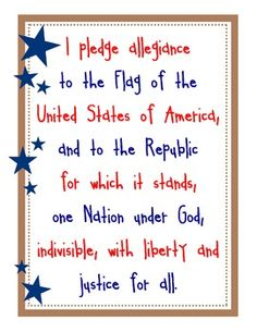 photo about Pledge of Allegiance Printable referred to as 54 Easiest PLEDGE OF ALLEGIANCE illustrations or photos within just 2017 Pledge of