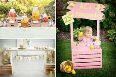 lemonade stand theme party