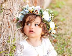 Boho Flower Crown-Wedding Head Wreath-Flower by RufflesBowtique