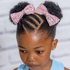 Black Baby Girl Hairstyles, Little Girls Natural Hairstyles, Toddler Braided Hairstyles, Kids Curly Hairstyles, Cabello Afro Natural, Pelo Natural, Curly Hair Styles, Natural Hair Styles, Kid Braid Styles