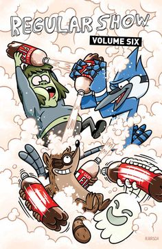 Collects issues #21-24 of KaBOOM!'s Regular Show comic series, based on the hit Cartoon Network show. Rigby embarks on a wild hunt to rediscover his favorite childhood flick that chronicles the harrowing adventures of dinosaurs from spaaaaaaaace! Accompanied by Hi-Five Ghost, Rigby accidentally unleashes an unruly terror on the population of Earth. Mordecai and Muscle …