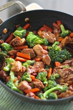 Teriyaki chicken with vegetables. Done in just 20 minutes. You can also use extra firm tofu and keep it vegetarian or use shrimp instead as well. #glutenfree #cleaneating