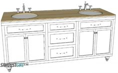 free plans for double vanity