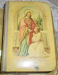 Antique Celluloid Prayer Book Communion Jesus