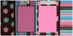 Baby Girl Pre-Made Scrapbook Album Pages Set by PattiChicCreations