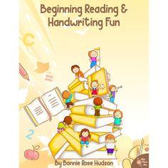 Beginning Reading & Handwriting Fun - WriteBonnieRose.com Learning To Write, Student Learning, Teaching Kids, Kindergarten Reading, Preschool Kindergarten, Curriculum, Homeschool, Beginning Reading, Learn To Read