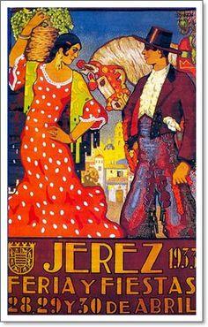 Cartel anunciador de la Feria de Jerez de la Frontera de 1933