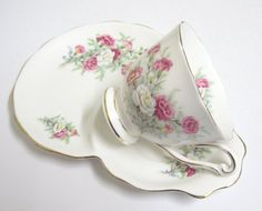 Vintage Tennis/Snack Set Queen Anne China by TheWhistlingMan, £12.00