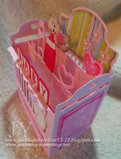 Creating in Faith, Hope and Love...: Crib Box Card from SVGCuts.com