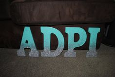 9 wooden glitter ombre letters. Any letter any by CocoByDesign, $12.00