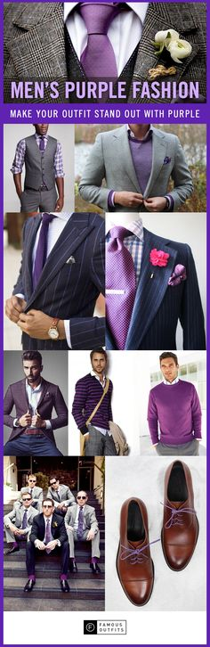Purple is an elegant color that can give your outfit some class. Check out these purple looks! I love my Man in purple!