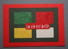 Greeting Card Four Seasons la vie est belle by Abicartes on Etsy, €12.50