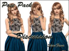 Sims 4 Updates: Sims Fans - Poses : 5 in 1 Discussion Posepack by Sim4fun, Custom Content Download!