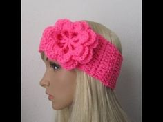 ▶ How to Crochet Earwarmer/Headband with a Flower Pattern #3│by ThePatterfamily - YouTube
