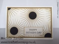 Michelle Zanotti ~ Stampin' Up! Demonstrator UK - Father's Day   Kinda Eclectic   Circle Punch