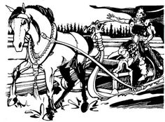 """oldschoolfrp: """"Vainamoinen, greatest hero of the Kalevala, and his sledge drawn by a magical horse who pulls enormous loads across any surface. (Jim Roslof from the Finnish Mythos in AD&D Deities & Demigods, TSR, 1980.) """""""