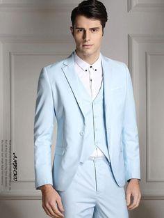 2014 male suits Slim Business professional dress one button wedding men wedding tuxedo jacket + pants + vest