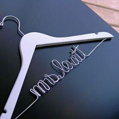 """""""Mrs."""" Custom Script Bridal Hangers (Available in 5 Colors)"""