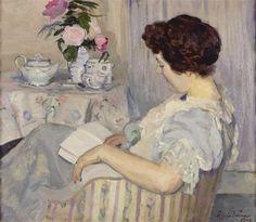 Alice lendo ao lado de uma chávena de chá, 1907 Roger de la Fresnaye (França, 1885-1925) óleo sobre tela