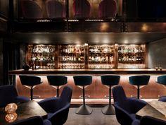 Tom Dixon's cocktail den design explores texture, distortion and reflection via Frameweb.com