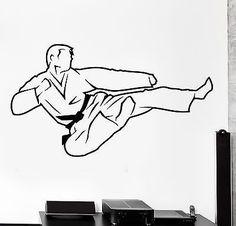 Wall Sticker Sport Karate Martial Arts Fighter Fighting Vinyl Decal (z3052)