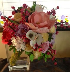 Completely handmade bridal bouquet made from cardstock, glue and wire.  All patterns and designs custom made by me.