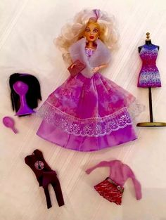 SPIN MASTER LIV Doll Sophie; Fur Wrap, Lavender BallGown, 2 WIGS, Extra CLOTHES+  | eBay