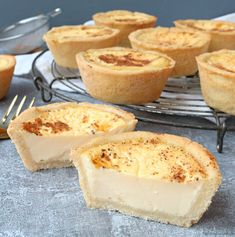 Recap of The Great British Bake Off episode 4 and I try out a Paul Hollywood recipe (with a few changes!) for delicious egg custard tarts Pastry Recipes, Tart Recipes, Baking Recipes, Dessert Recipes, Pie Dessert, Shortcrust Pastry, Great British Bake Off, Sweet Pastries, Small Cake